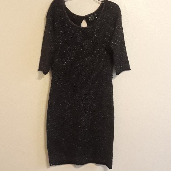 Sparkly Black Sweater Dresses